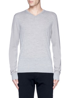 Lanvin Mixed media sweater