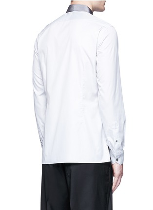 Back View - Click To Enlarge - Lanvin - Slim fit grosgrain collar shirt