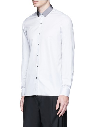 Front View - Click To Enlarge - Lanvin - Slim fit grosgrain collar shirt