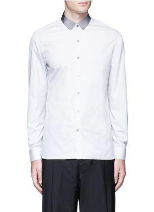 Lanvin-Slim fit grosgrain collar shirt