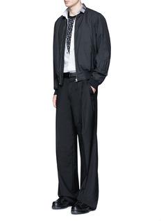 LanvinSlim fit grosgrain collar shirt