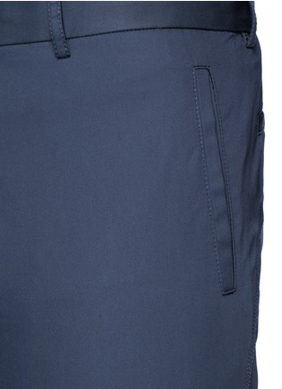 Detail View - Click To Enlarge - Lanvin - Slim fit cotton gabardine biker pants