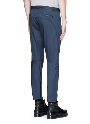 Back View - Click To Enlarge - Lanvin - Slim fit cotton gabardine biker pants