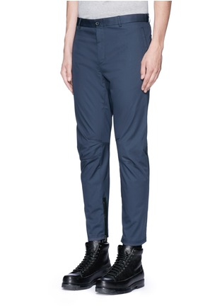 Front View - Click To Enlarge - Lanvin - Slim fit cotton gabardine biker pants