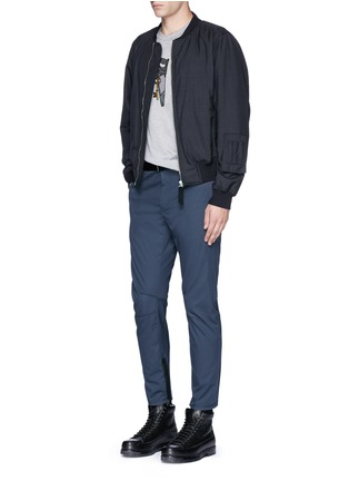 Figure View - Click To Enlarge - Lanvin - Slim fit cotton gabardine biker pants