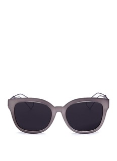 Dior 'Diorama 1' metal openwork temple square cat eye sunglasses