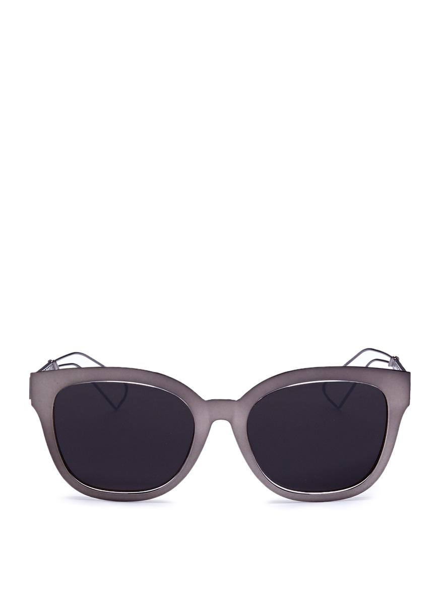 Diorama 1 metal openwork temple square cat eye sunglasses by Dior