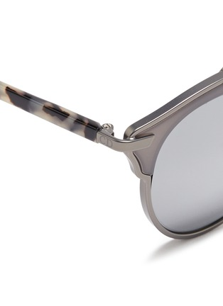 Detail View - Click To Enlarge - Dior - 'Dior So Real' tortoiseshell acetate temple metal mirror sunglasses