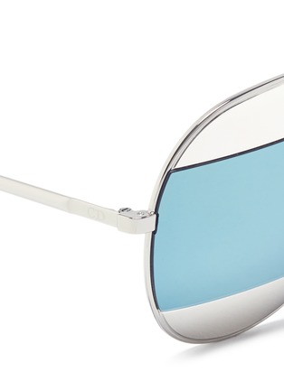 Detail View - Click To Enlarge - Dior - 'Dior Split' inset metal aviator mirror sunglasses