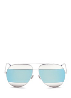 Dior 'Dior Split' inset metal aviator mirror sunglasses