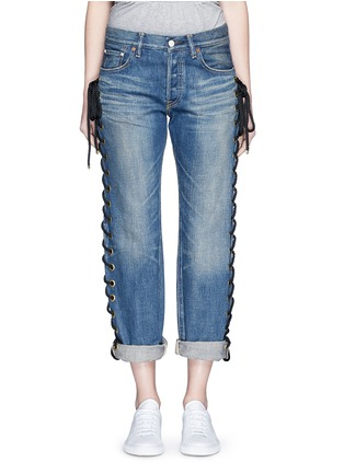 Detail View - Click To Enlarge - Tu Es Mon Trésor - Rope lace-up side selvedge jeans