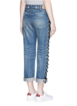 Back View - Click To Enlarge - Tu Es Mon Trésor - Rope lace-up side selvedge jeans