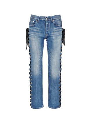 Main View - Click To Enlarge - Tu Es Mon Trésor - Rope lace-up side selvedge jeans