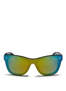 3.1 PHILLIP LIMx Linda Farrow single lens D-frame sunglasses