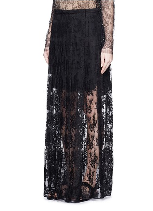 Front View - Click To Enlarge - Chloé - Pleat lace maxi skirt