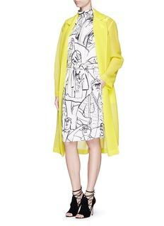 EMILIO PUCCITourist print crepe dress