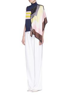 EMILIO PUCCIDrape scarf sleeveless turtleneck sweater