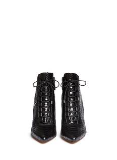 ALEXANDRE BIRMAN'Mally' python leather stiletto boots