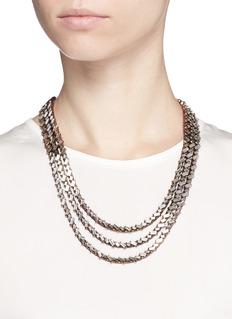 ERICKSON BEAMON'War of the Roses' Swarovski crystal necklace