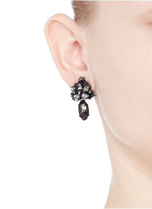 Figure View - Click To Enlarge - Erickson Beamon - 'Young and Innocent' Swarovski crystal drop earrings