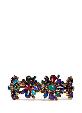 Main View - Click To Enlarge - Erickson Beamon - 'Hyperdrive' Swarovski crystal floral cluster bangle