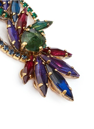 Detail View - Click To Enlarge - Erickson Beamon - 'Hyperdrive' Swarovski crystal oval leaf earrings