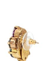 'Hyperdrive' small Swarovski crystal cluster earrings