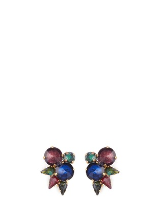 Main View - Click To Enlarge - Erickson Beamon - 'Hyperdrive' small Swarovski crystal cluster earrings