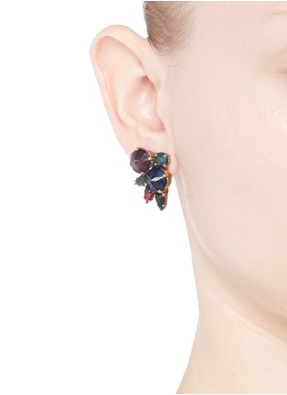 Figure View - Click To Enlarge - Erickson Beamon - 'Hyperdrive' small Swarovski crystal cluster earrings
