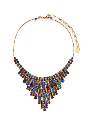 Main View - Click To Enlarge - Erickson Beamon - 'Hyperdrive' Swarovski crystal tiered drop necklace