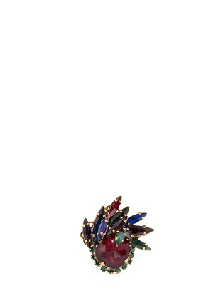 Main View - Click To Enlarge - Erickson Beamon - 'Hyperdrive' small Swarovski crystal flare ring