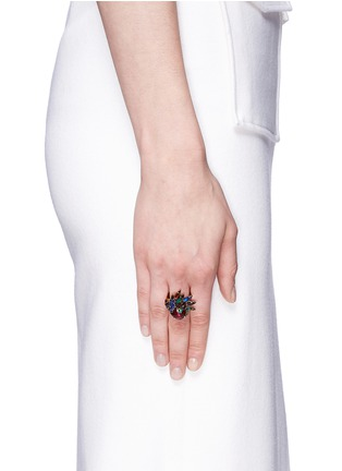 Figure View - Click To Enlarge - Erickson Beamon - 'Hyperdrive' small Swarovski crystal flare ring