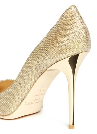 Detail View - Click To Enlarge - Jimmy Choo - 'Abel' lamé glitter pumps