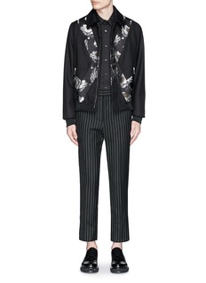 Alexander McQueenCross floral jacquard blouson jacket