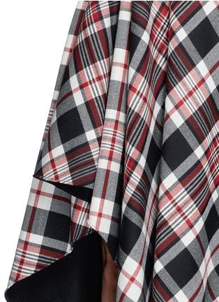 Detail View - Click To Enlarge - Alexander McQueen - Asymmetric hem tartan plaid wool midi skirt