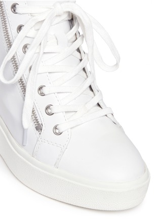 Detail View - Click To Enlarge - Ash - 'Atomic' holographic collar leather wedge sneakers