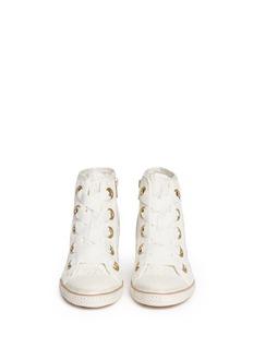 ASH'Glen' floral lace grosgrain lace-up sneakers