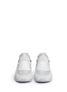 ASH 'Hop' glitter star trim leather sneakers