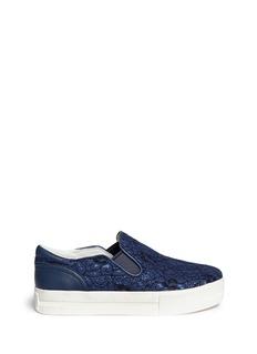 ASH'Jungle Bis' guipure lace leather trim slip-ons