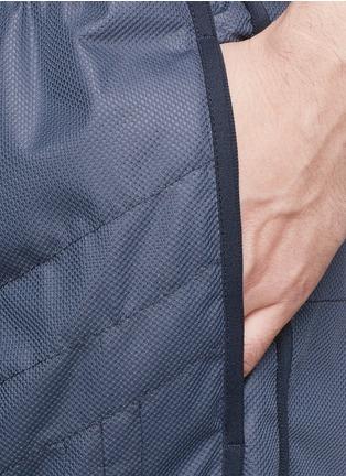 细节 - 点击放大 - MONCLER GRENOBLE - 网眼绗逢尼龙运动长裤