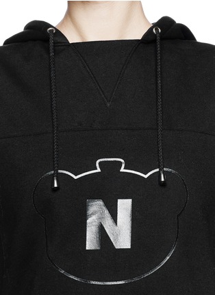 Detail View - Click To Enlarge - NICOPANDA - Panda logo flare hem sleeveless hoodie