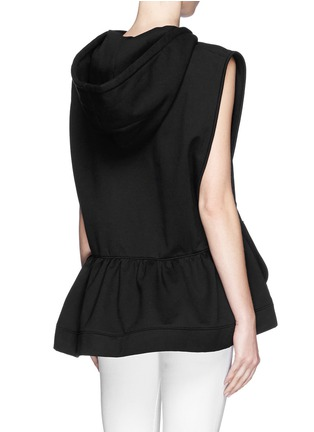 Back View - Click To Enlarge - NICOPANDA - Panda logo flare hem sleeveless hoodie