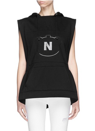 Main View - Click To Enlarge - NICOPANDA - Panda logo flare hem sleeveless hoodie
