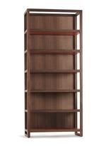 Finnieston walnut wood bookcase