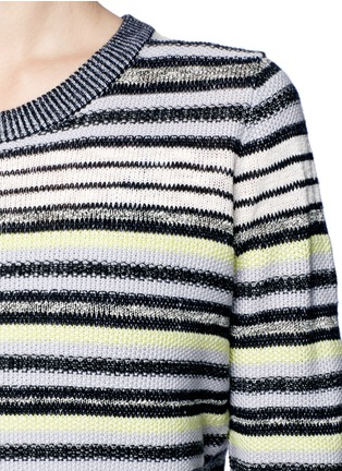 Detail View - Click To Enlarge - Proenza Schouler - Textured stripe button-back sweater