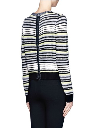 Back View - Click To Enlarge - Proenza Schouler - Textured stripe button-back sweater