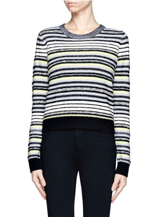 Main View - Click To Enlarge - Proenza Schouler - Textured stripe button-back sweater