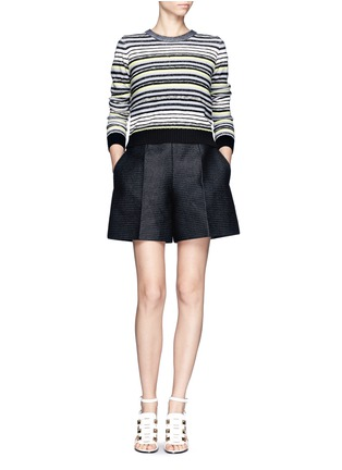 Figure View - Click To Enlarge - Proenza Schouler - Textured stripe button-back sweater