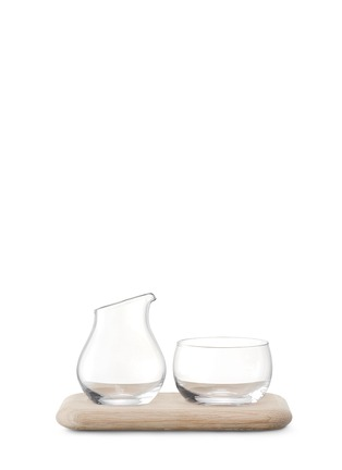 Lsa - Serve oak base sugar and cream set