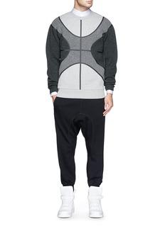 GIVENCHYHeat sealed seam tonal colourblock sweatshirt